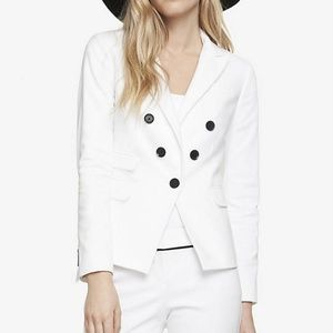 Express Faux Double Breasted Jacket Blazer